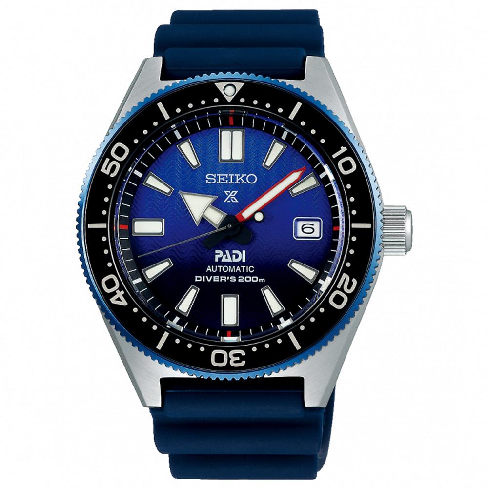 SEIKO精工Prospex PADI深海藍鯨200米潛水機械錶(SPB071J1)-藍
