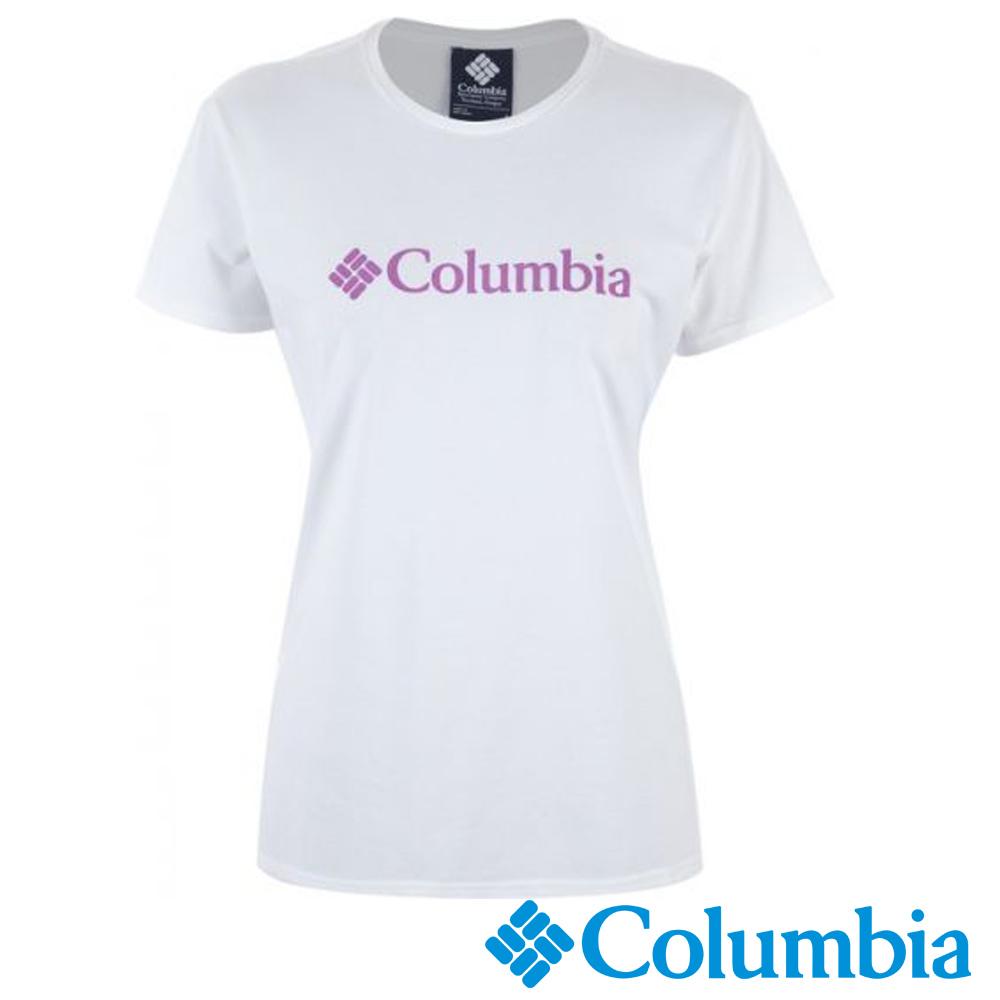 Columbia 哥倫比亞 女-LOGO快排短袖上衣- UAR19730