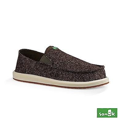 SANUK PICK POCKET TWEED 混紗口袋懶人鞋-男款(棕色)