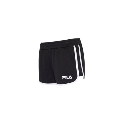 FILA 女針織短褲-黑色 5SHV-1513-BK