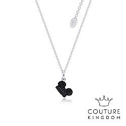 Disney Jewellery by Couture Kingdom米奇黑水晶鍍白金項鍊