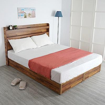 Homelike 鄉村風床組-雙人5尺(二色)