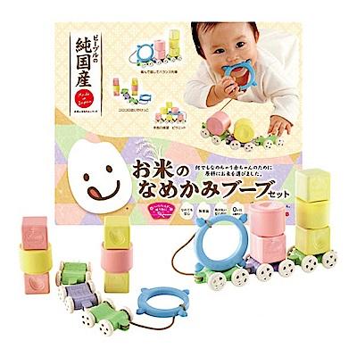 日本製People-米的彩色列車玩具組合(0m+)(固齒器)
