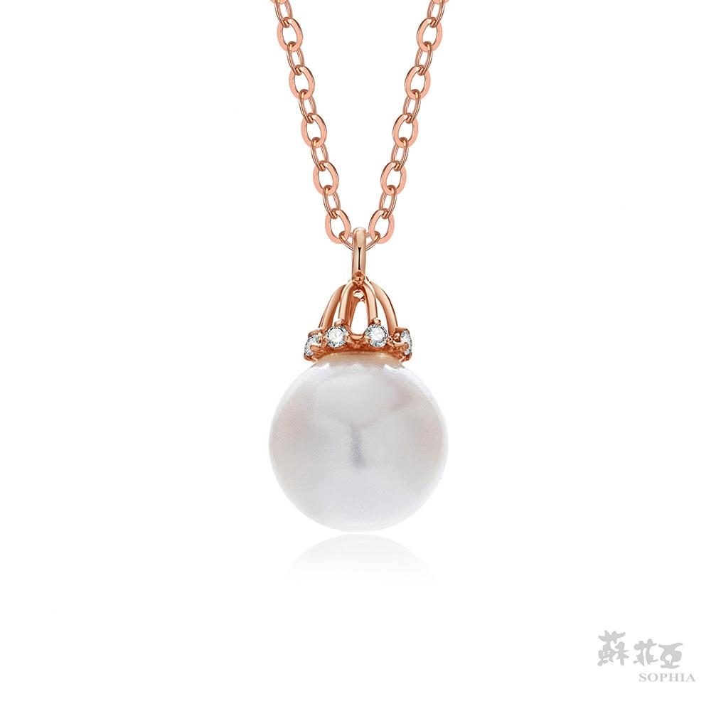SOPHIA 蘇菲亞珠寶 - 新品 Feminin系列_柔美桂冠 7~7.5mm 14K玫瑰金 珍珠項鍊