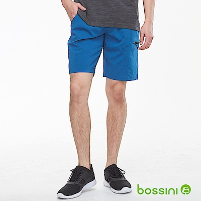 bossini男裝-ZtayDry快乾素色短褲03藍