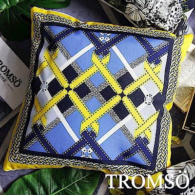 TROMSO 奢華義大利棉麻抱枕-U177輝煌金鍊