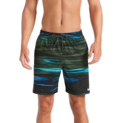 NIKE 海灘褲 沙灘褲 七吋短褲 男性 Sky Stripe Vital 墨綠 NESSA498-303(有內裡)