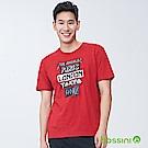 bossini男裝-印花短袖T恤01紅