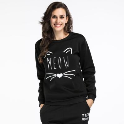 【KEITH-WILL】(現貨)韓時尚峇里渡假貓貓上衣-1色