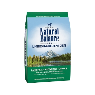 Natural Balance 低敏羊肉糙米成犬配方 26LB/11.8kg(購買第二件贈送寵鮮食零食*1包)