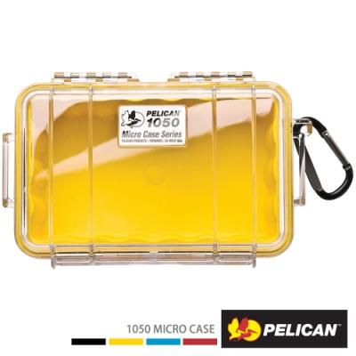 美國 PELICAN 1050 Micro Case 微型防水氣密箱-透明(黃)