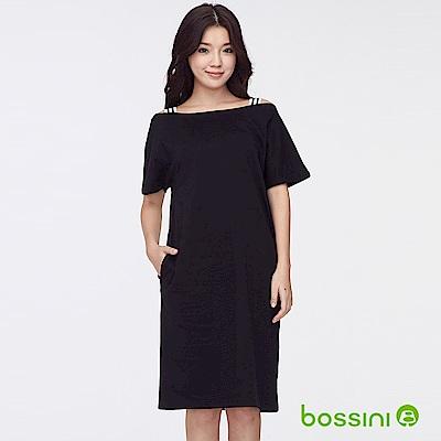 bossini女裝-露肩洋裝01黑