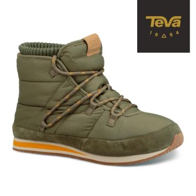 【TEVA】原廠貨 男 Ember Lace 防潑水麵包中筒靴/雪靴(橄欖綠-TV1094235BTOL)