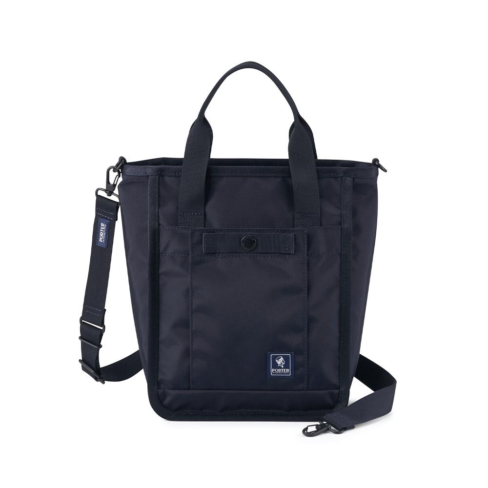 PORTER - 拼接美學PIET造型時尚兩用包 - 深藍