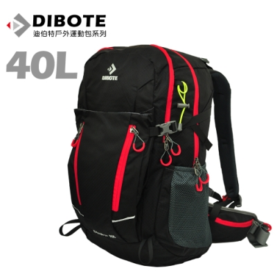 迪伯特DIBOTE 極輕骨架。人體工學40L登山背包/登山包 (黑)