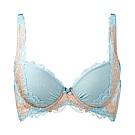 黛安芬-自然美型系列無痕 D罩杯內衣 水藍