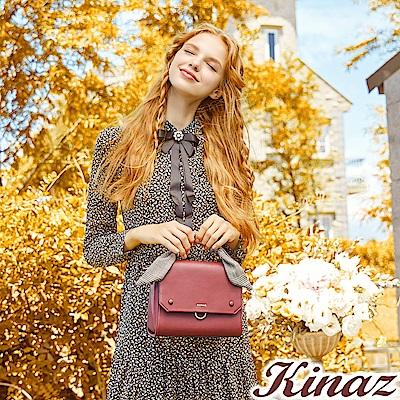 KINAZ 皇后學院兩用斜背包-微醺酒紅-安妮系列-快