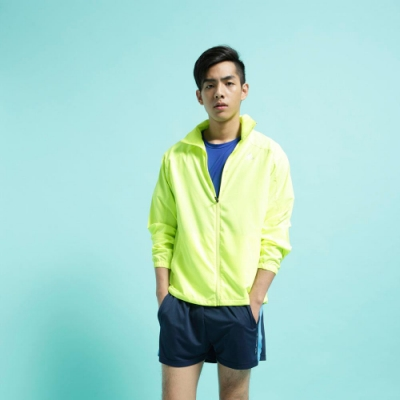 【FIVE UP】男款經典LOGO抗UV風衣外套-螢光黃