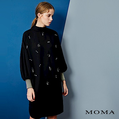 MOMA 異材質縫珠洋裝