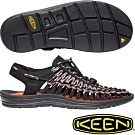 KEEN 1020779黑/彩色 Uneek男專業戶外護趾編織涼鞋