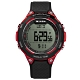 JAGA 捷卡 電子運動 倒數計時 計時碼錶 鬧鈴 防水100米 橡膠手錶-黑紅/48mm product thumbnail 1