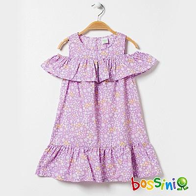 bossini女童-挖肩連身洋裝01淡紫