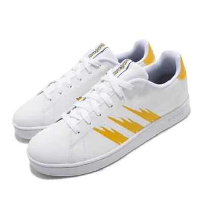 adidas 休閒鞋 Advantage K 皮卡丘 女鞋 愛迪達 寶可夢 聯名 穿搭 皮革 中大童 白 黃 FW3187