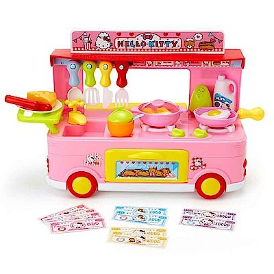 Sanrio HELLO KITTY家家酒玩具有聲餐車