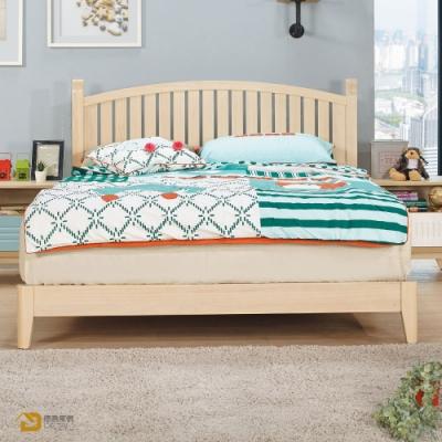 D&T 德泰傢俱 Rita北歐撞色風5尺實木床檯 寬155x長194x高107公分