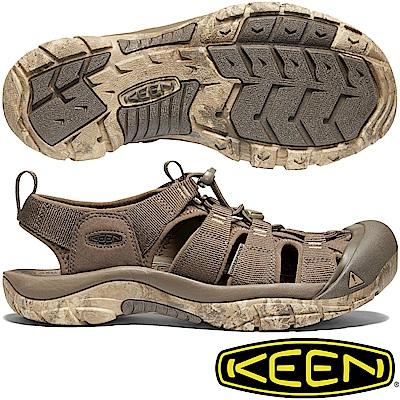 KEEN 1020287咖啡 Newport H2 男戶外護趾涼鞋