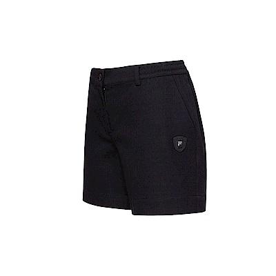 FILA 女款平織短褲-黑色 5SHT-1493-BK