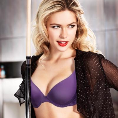 黛安芬-魔術隱形V系列 B-C罩杯內衣 氣質紫