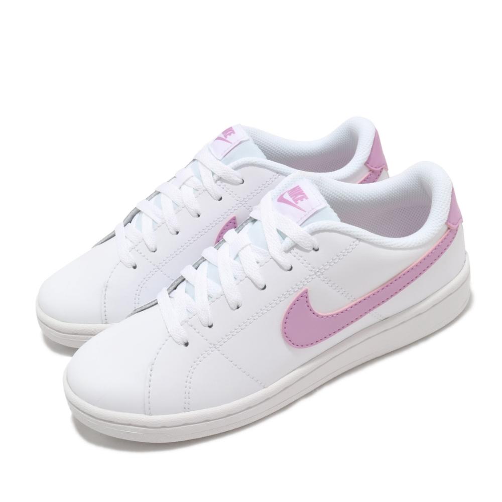 Nike 休閒鞋 Court Royale 2 運動 女鞋 基本款 舒適 簡約 皮革 質感 穿搭 白 粉 CU9038101