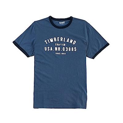 Timberland 男款深藍色 LOGO T恤|A1NHI