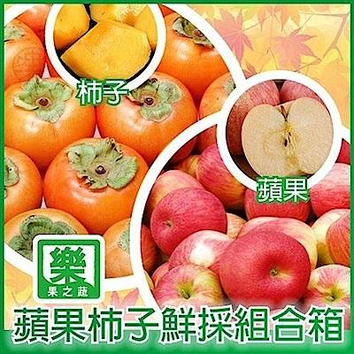【天天果園】水果雙拼組合-南非富士蘋果+摩天嶺高山7A甜柿