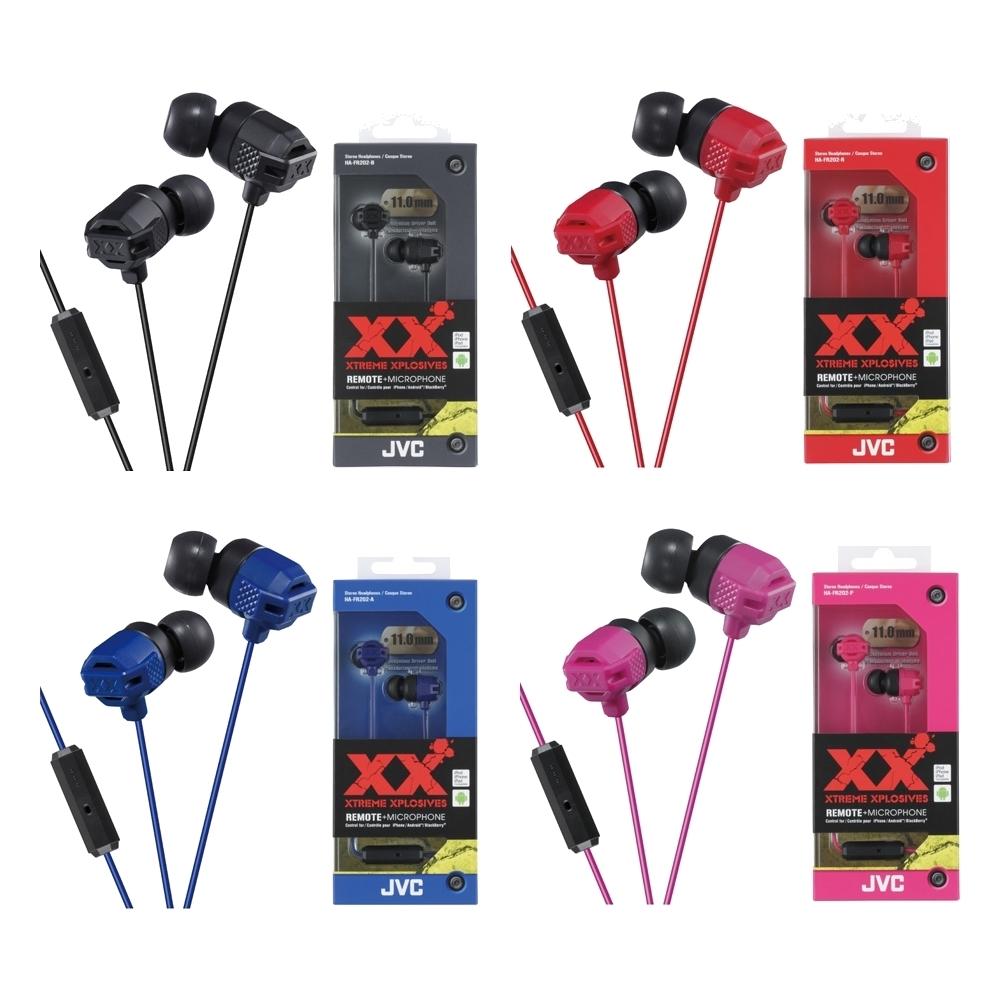 [福利品]JVC手機用XX重低音耳道式耳麥HA-FR202散裝
