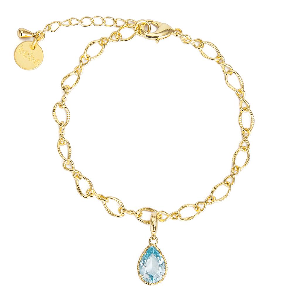 彩糖貝貝 湖水藍水滴型手鍊 親子& 閨蜜 繽紛寶石系列