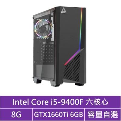 華碩B365平台[曜日狩神]i5六核GTX1660Ti獨顯電腦