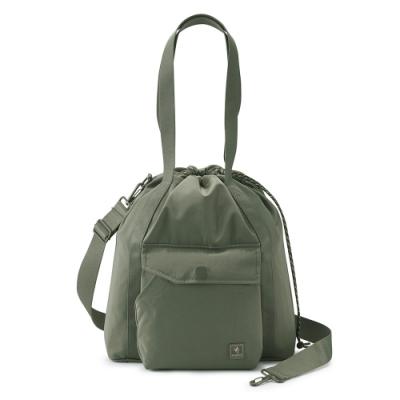 PORTER - 濃縮記憶LAPSE手提斜背兩用水桶包(M) - 軍綠