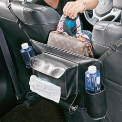 汽車椅間皮革置物袋一個