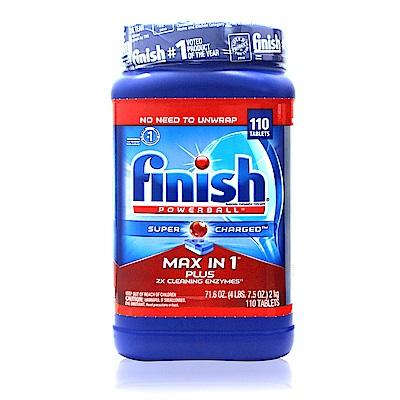 美國 FINISH 強效洗碗碇110入/2kg(12倍清潔)