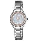 CITIZEN星辰 LADY'S施華洛世奇光動能時尚腕錶26mm-(EW2556-83Y)