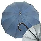 22X12K銀素布FRP晴雨直傘-彎頭-6入
