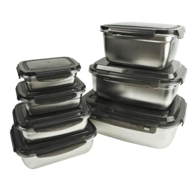 JLM 304不鏽鋼樂扣保鮮盒-1800ml(贈瓦斯爐保護墊*1)