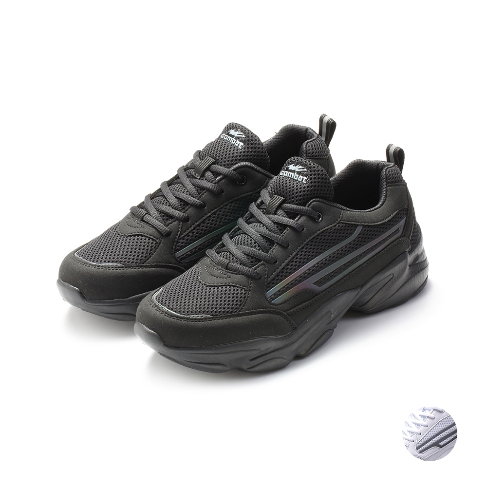 COMBAT艾樂跑男鞋-復古老爹鞋-黑/白(22567)