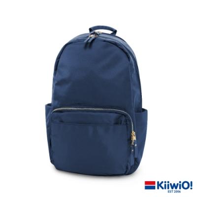 Kiiwi O! 質感防潑尼龍雙層 筆電包/後背包 YVONNE 藏青