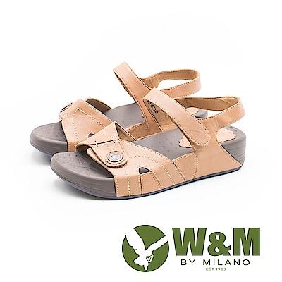 W&M 厚底氣墊魔鬼氈涼鞋 女鞋-橘(另有藍) @ Y!購物