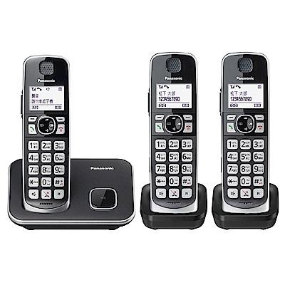 Panasonic國際牌 KX-TGE613TW 中文大字鍵三話機無線電話