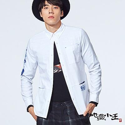 地藏小王 BLUE WAY 地藏潮流顯色FIT 長袖襯衫(白)