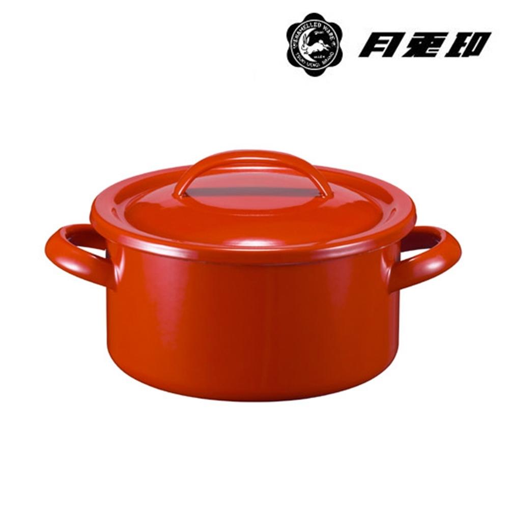 JIA Inc. 品家家品 月兔印-琺瑯燉煮鍋 19cm 2.7L-紅色